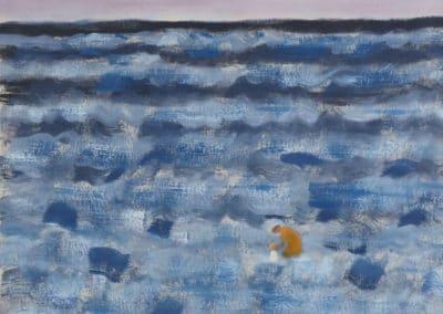 Small figures in a big sea - Milton Avery (1953)