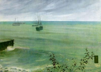 Symphony in grey and green - the ocean - James Abbott McNeill Whistler (1881)