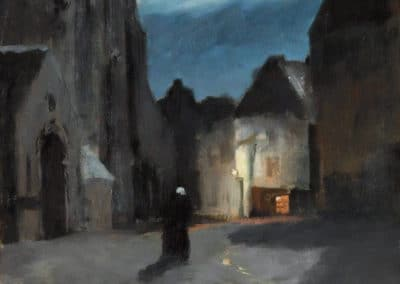 Town by moonlight - Frits Thaulow (1897)