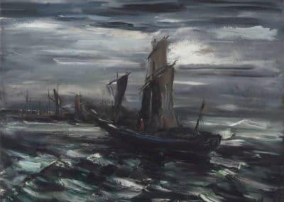 Voiliers au port - Maurice de Vlaminck (1937)