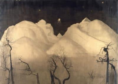 Winter night in the mountains - Harald Oskar Sohlberg (1904)