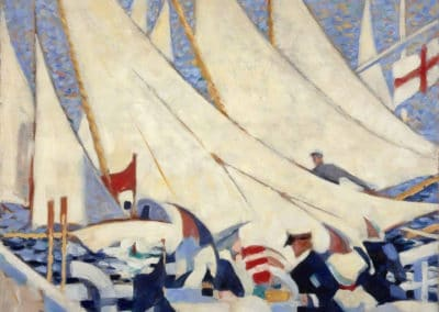 The regatta - Stanley Cursiter (1913)