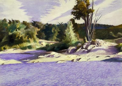 White river at Sharon - Edward Hopper (1929)