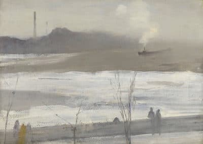 Chelsea in ice - James Whistler (1864)