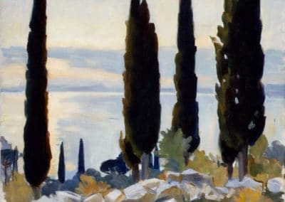 Cypress trees at San Vigillo - John Singer Sargent (1913)