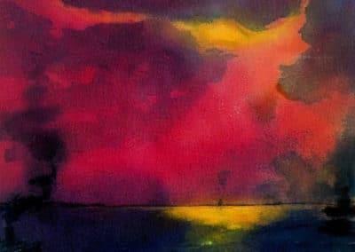 Mare e nuvole - Emil Nolde (1921)