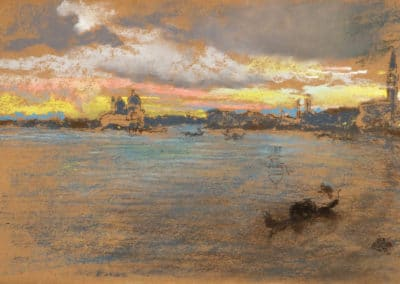 The storm-sunset - James Whistler (1880)