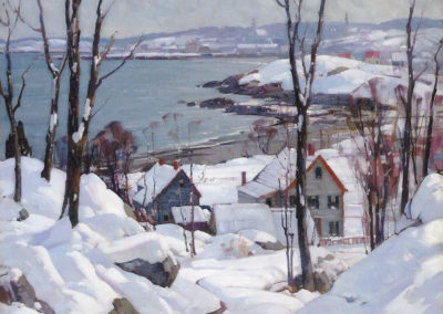 Rockport in winter - Aldro Hibbard (1940)