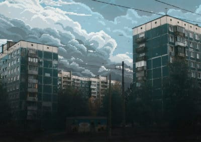 8-bit skies over Russia - Dmitry Shafroz (2027)