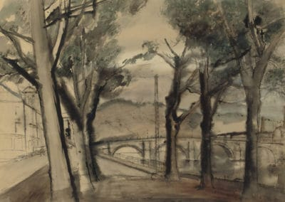 Pont à Huy - Paul Delvaux (1933)