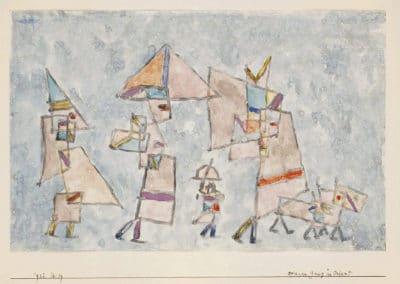 Promenade in the Orient - Paul Klee (1932)