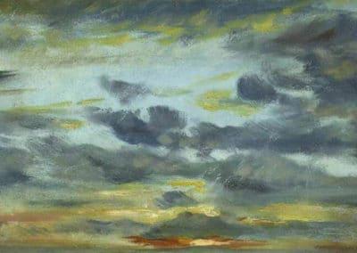 Sky study, sunset - John Constable (1821)