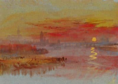 The Scarlet sunset - William Turner (1830)