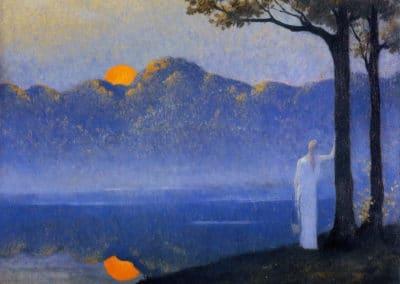 The muse at sunrise - Alphone Osbert (1918)