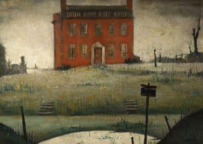 Empty house - Laurence Stephen Lowry (1934)