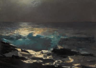 Moonlight, Wood island light - Winslow Homer (1898)