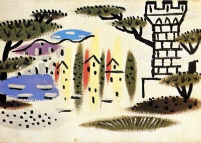 Paysage de Juan Les Pins - Pablo Picasso (1924)