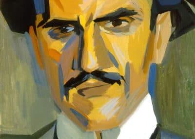 Portrait of critic Garegin Levonian - Martiros Sarian (1912)