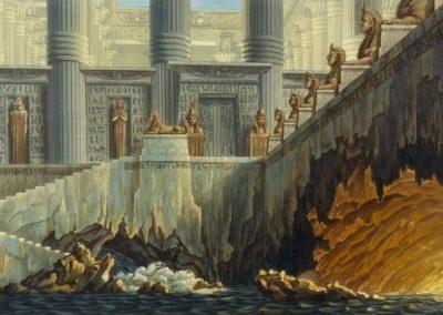 Décors pour la flûte enchantée - Friedrich Schinkel 1816 (3)
