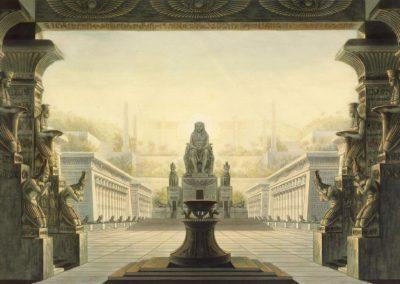 Décors pour la flûte enchantée - Friedrich Schinkel 1816 (6)