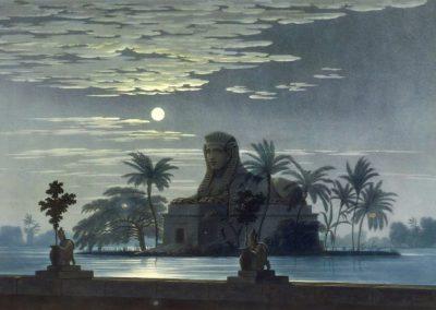 Décors pour la flûte enchantée - Friedrich Schinkel 1816 (7)