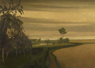 Fin d'une journée sombre à Laethem-Saint-Martin - Valérius de Saedeleer (1907)