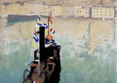 Le bateau ponte, Marseille - Albert Marquet (1916)
