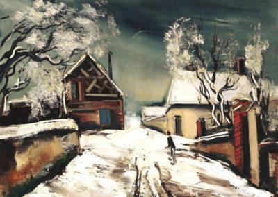 Maisons sous la neige - Maurice de Vlaminck(1929)