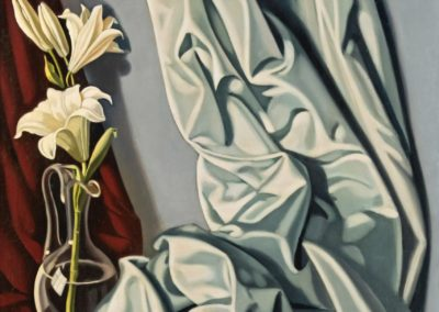 Nature morte au lys et au drape gris - Tamara de Lempicka (1941)