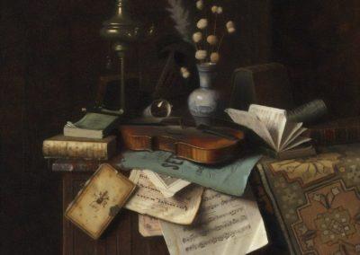 Nature morte au violon - William Michael Harnett (1888)