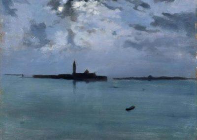 Nuit sur la lagune - Jules Bastien Lepage (1880)