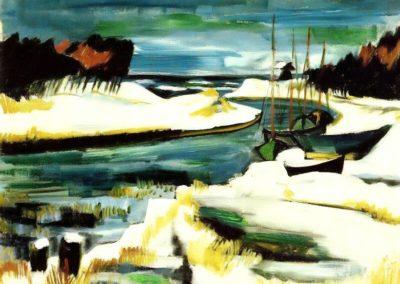 On Baltic shore - Max Pechstein (1921)