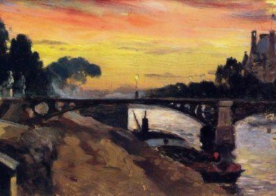 Paris vue de la Seine, nuit - Mathias Alten (1899)