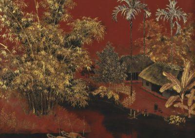 Paysage avec village pres d'une riviere - Tran Phuc Duyen (1951)