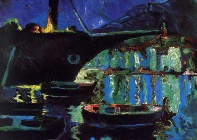 Port de Cadaques, nuit - Salvador Dali (1919)