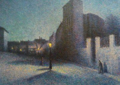 Rue Ravignan, Paris - Maximilien Luce (1893)
