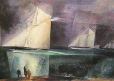 Sailing boats - Lyonel Feininger (1929)
