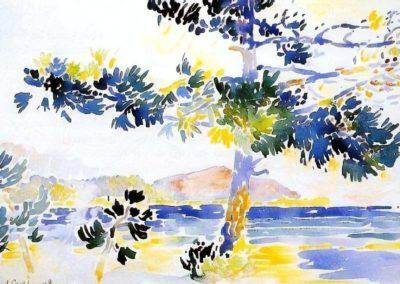 Saint-Clair, paysage - Henri-Edmond Cross (1882)