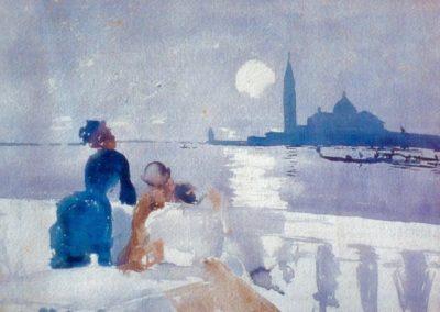 San Giorgio by moonlight - Ralph Wormsley Curtis (1881)