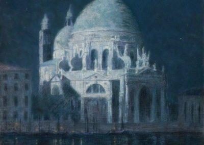 Santa Maria della Salute au clair de lune - John Leslie Breck (1897)