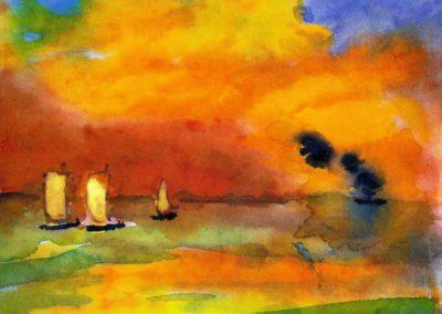 Sea and light clouds - Emil Nolde (1935)