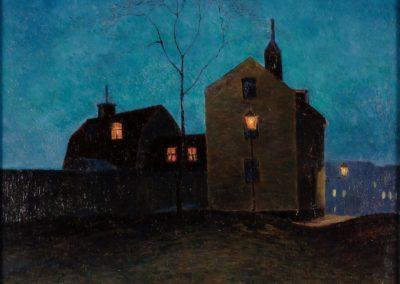 Stockholm au crepuscule - Arthur Bianchini (1907)