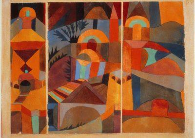 Temple gardens - Paul Klee (1920)