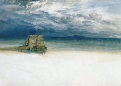 The castle dell'ovo, Naples with Capri in the distance - William Turner (1819)
