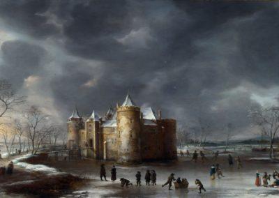 The castle of Muiden in winter - Jan Abrahamsz (1658)