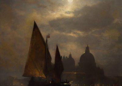 Venezia by moonlight - Sophus Jacobsen (1871)