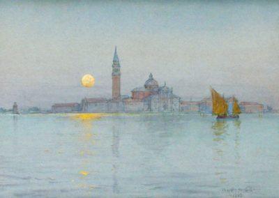 Venice moonlight - Walter Launt Palmer (1903)