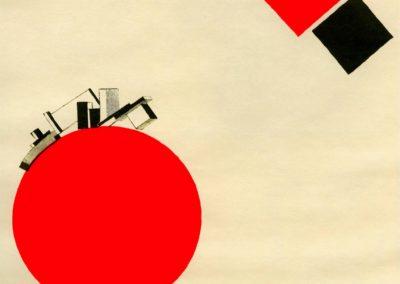 Vol a la terre a une distance - Lazar Lissitzky (1920)