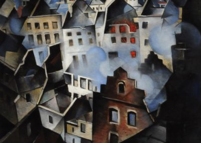 Ypres after first bombardment - Christopher Richard Wynne Nevinson (1916)