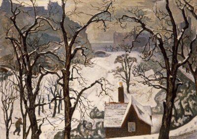 Edinburgh in the snow - William Crozier (1904)